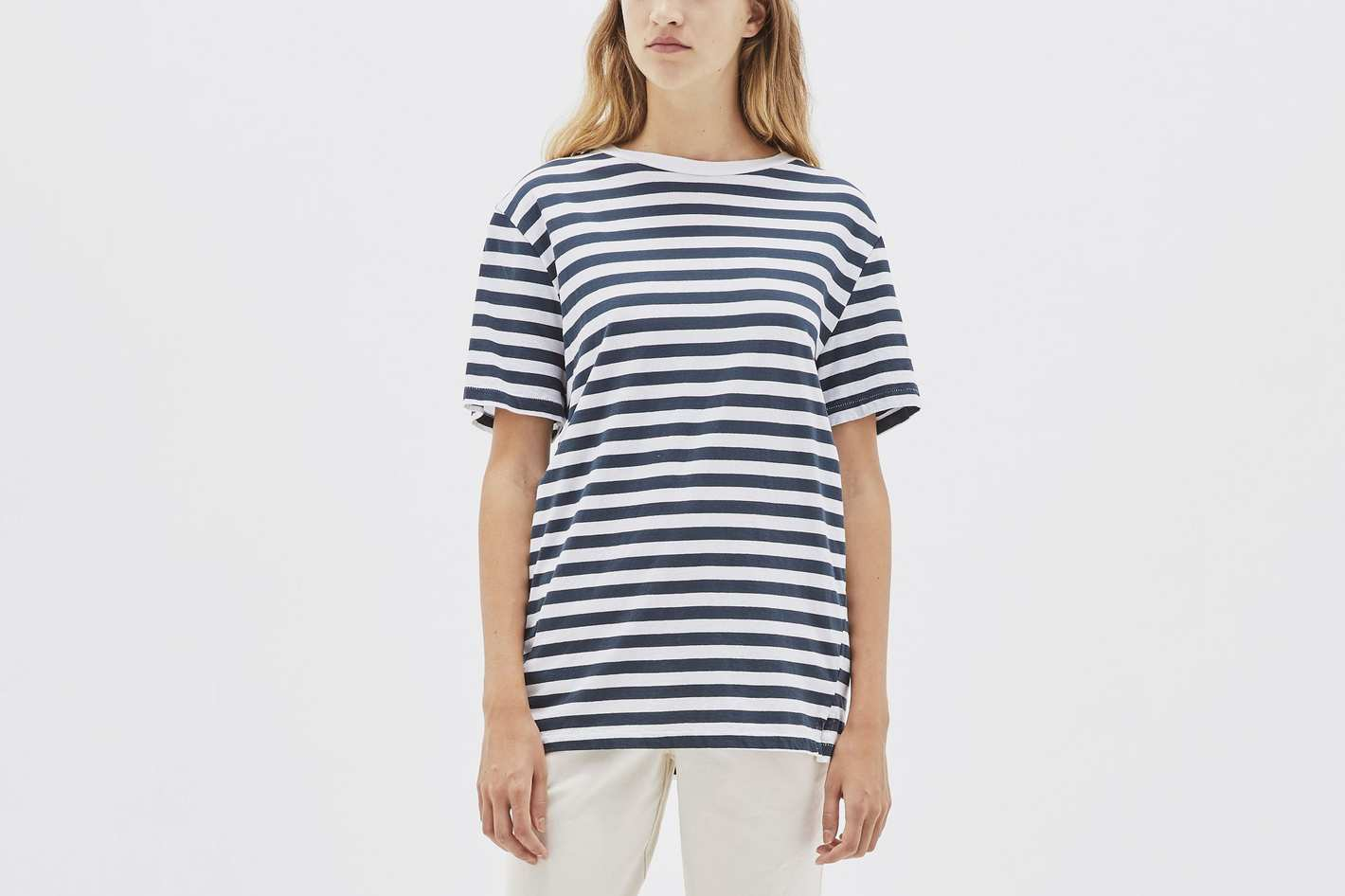 Bassike Stripe Classic Vintage T-Shirt