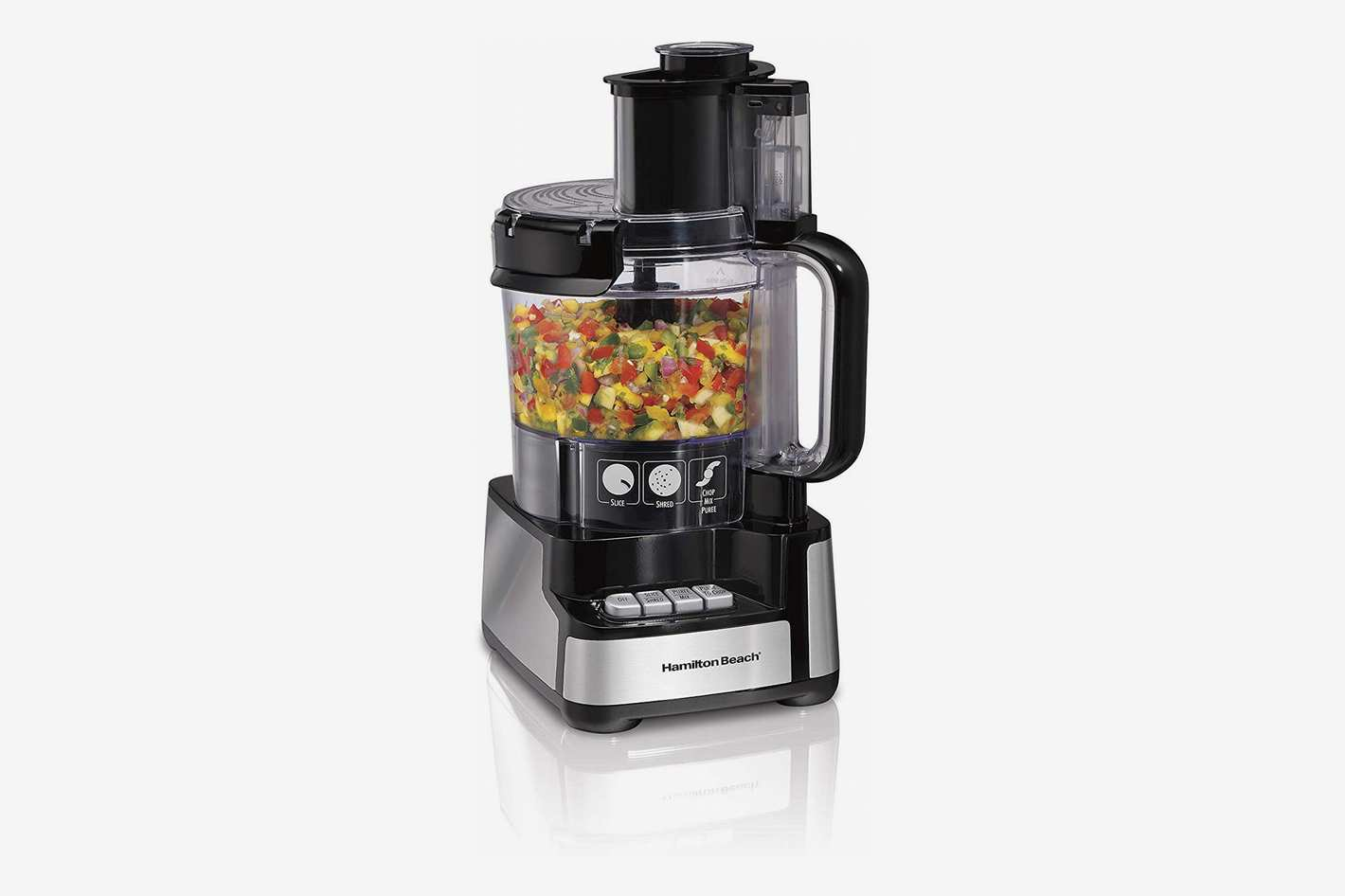 Hamilton Beach 70725A 12-Cup Stack & Snap Food Processor and Vegetable Chopper