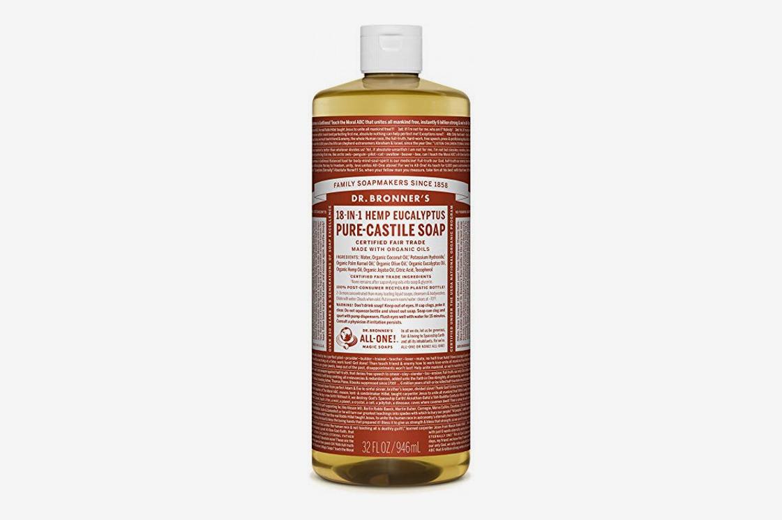 Dr. Bronner's Pure Castile Liquid Soap in Hemp Eucalyptus
