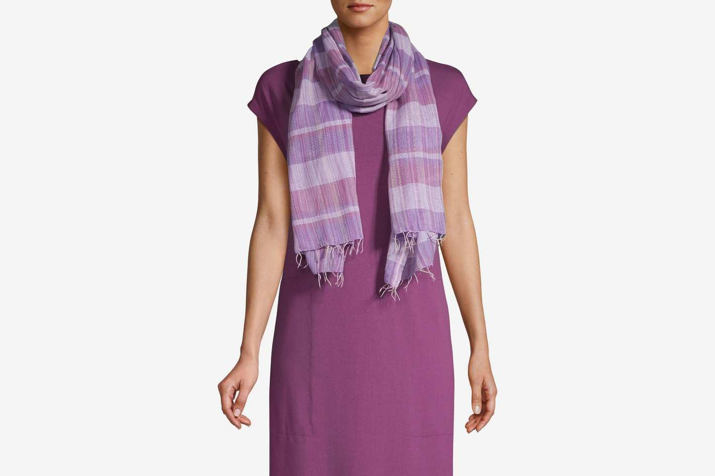 Eileen Fisher Tie-Dye Cotton Scarf