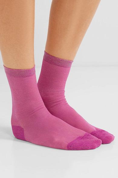 Falke Rainbow metallic stretch-knit socks