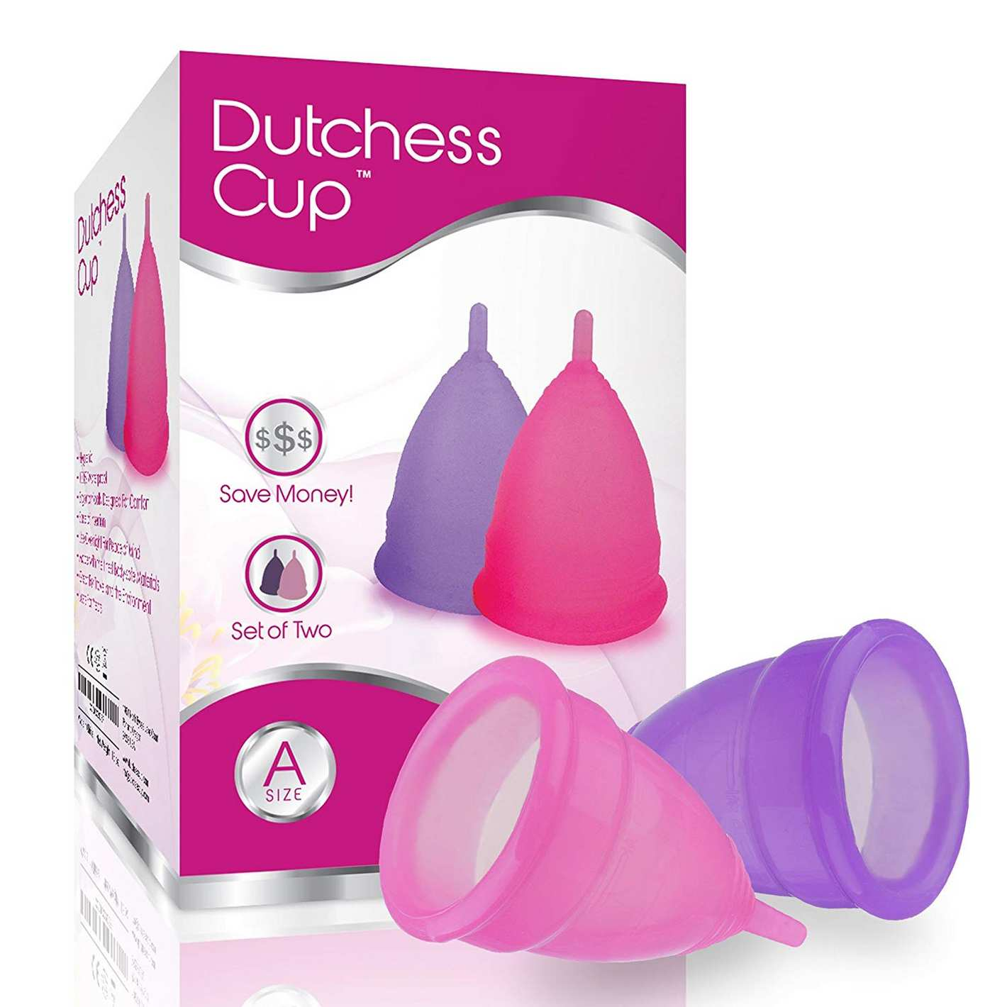 Dutchess Menstrual Authentic Original Cups Set of 2 with Free Bags
