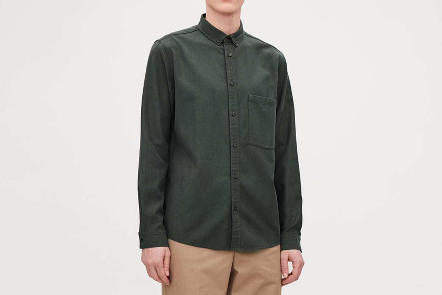 COS Cotton Button-Down Shirt