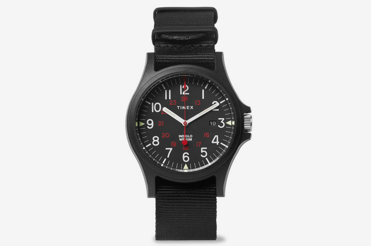 Timex Acadia Resin And Grosgrain Watch - Black