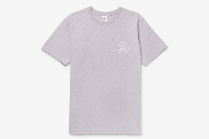 A.P.C. Arrol Slim-Fit Logo-Print Cotton-Blend Jersey T-Shirt