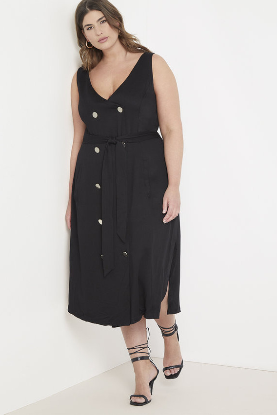 Eloquii Button Front Dress