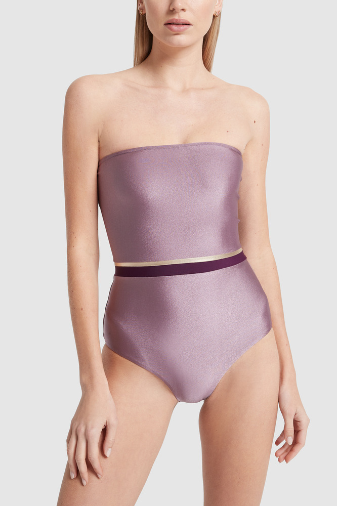 Adriana Degreas Tricolor Strapless Swimsuit