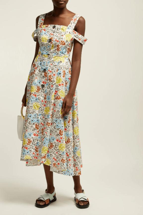 Isa Arfen Positano floral-print cotton dress