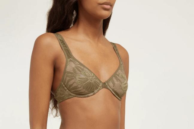 HANRO Lace Illusion underwired bra