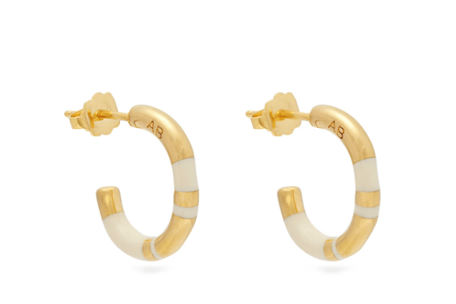 Aurélie Bidermann Positano small gold-plated earrings