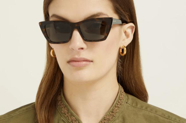 Saint Laurent Mica tortoiseshell cat-eye sunglasses