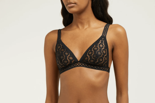 STELLA MCCARTNEY LINGERIE  Mia Remembering floral-lace soft-cup bra