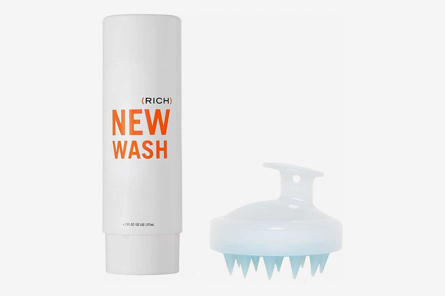 Hairstory New Wash (Rich) Hair Cleanser 8 oz + In-Shower Brush