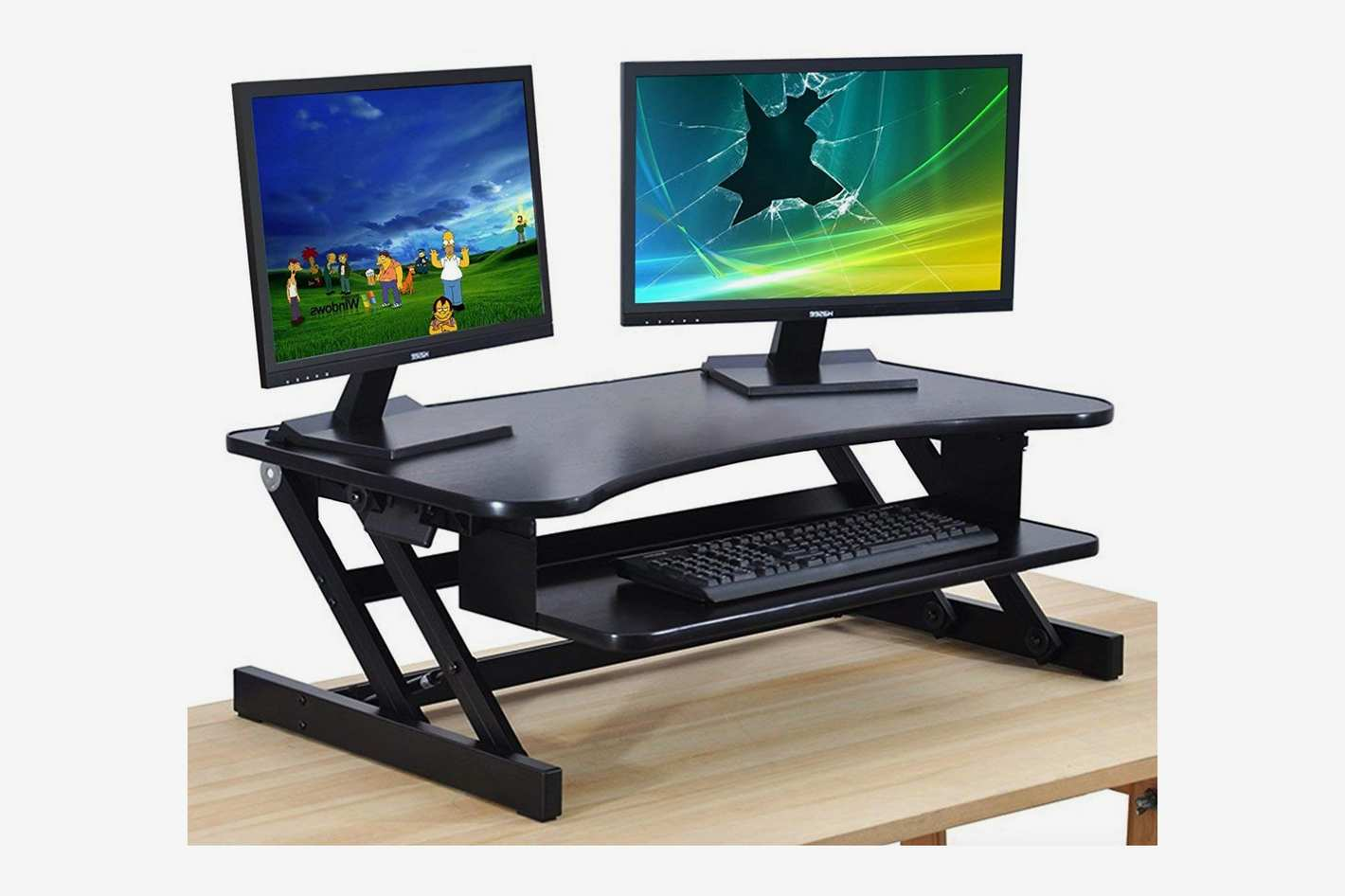 The House of Trade Height Adjustable Sit to Stand Up Desk Riser