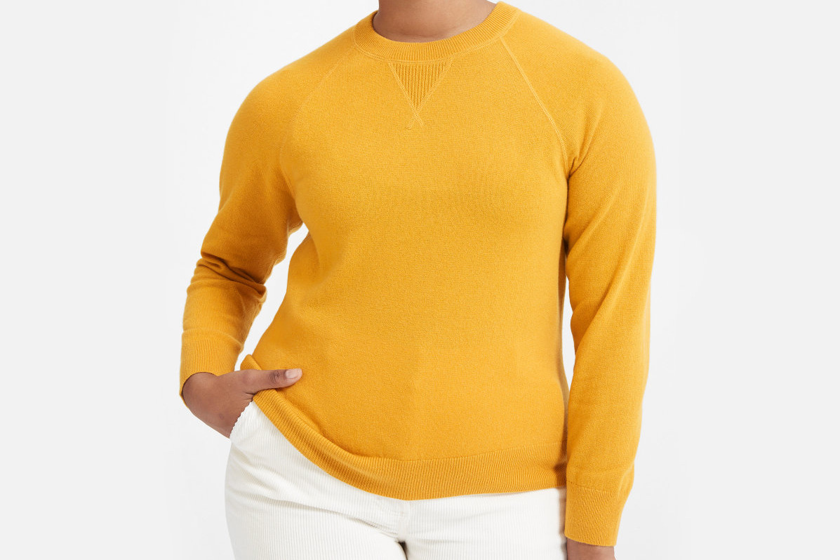 Everlane the Cashmere Shrunken Sweatshirt