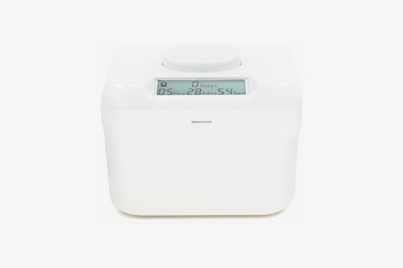 "Kitchen Safe Mini: Time Locking Container (White Lid + White Base) - 2.0"" Height"