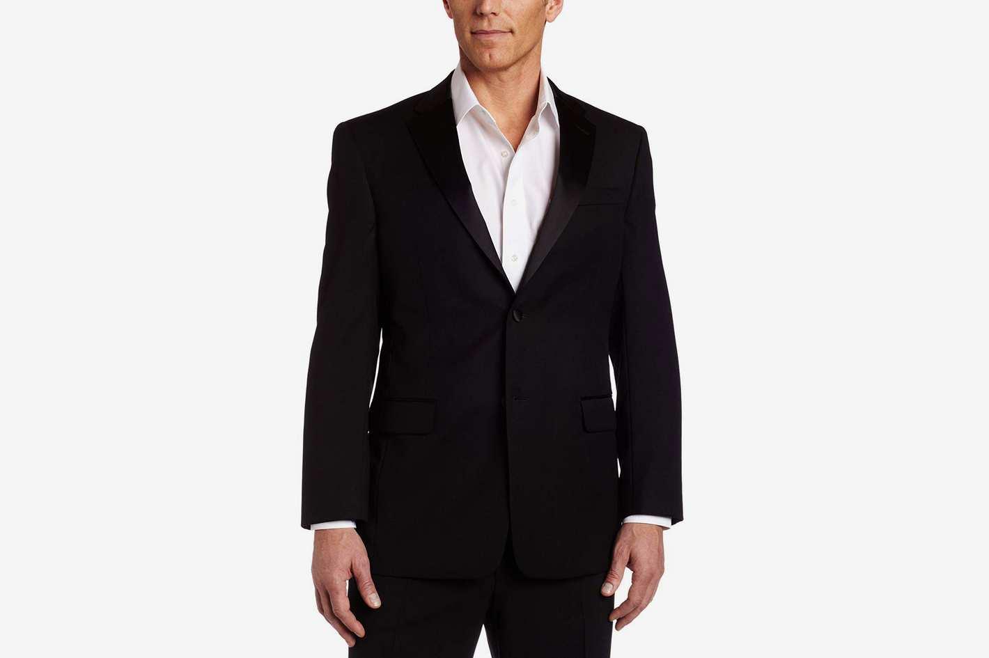 Tommy Hilfiger Men's Side Vent Trim Fit Tuxedo Coat