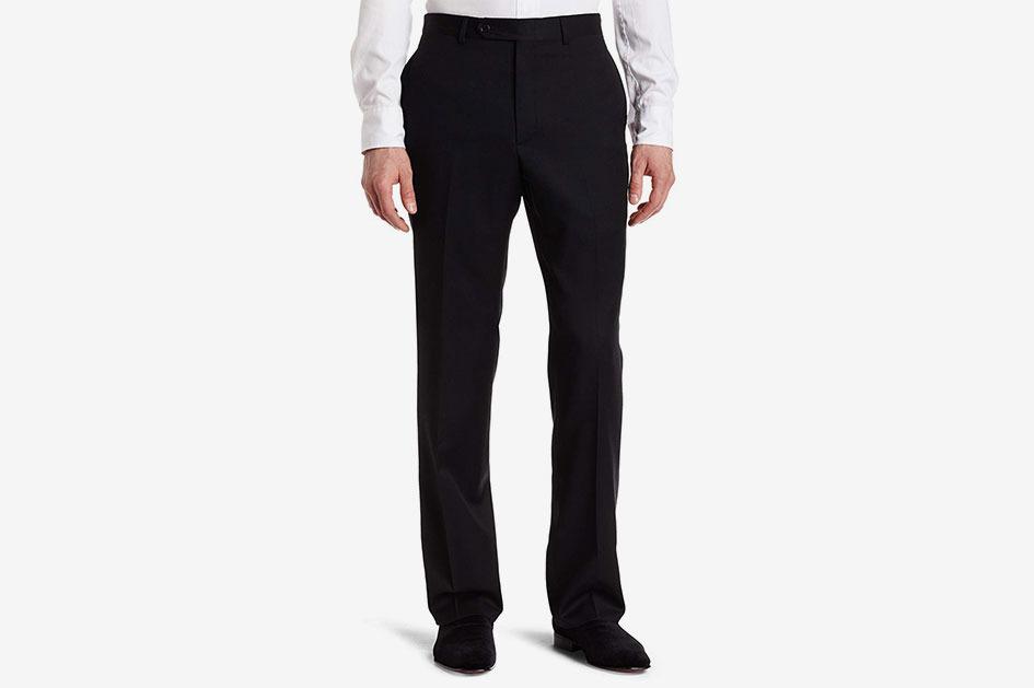 Tommy Hilfiger Men's Flat Front Trim Fit Tuxedo Pant