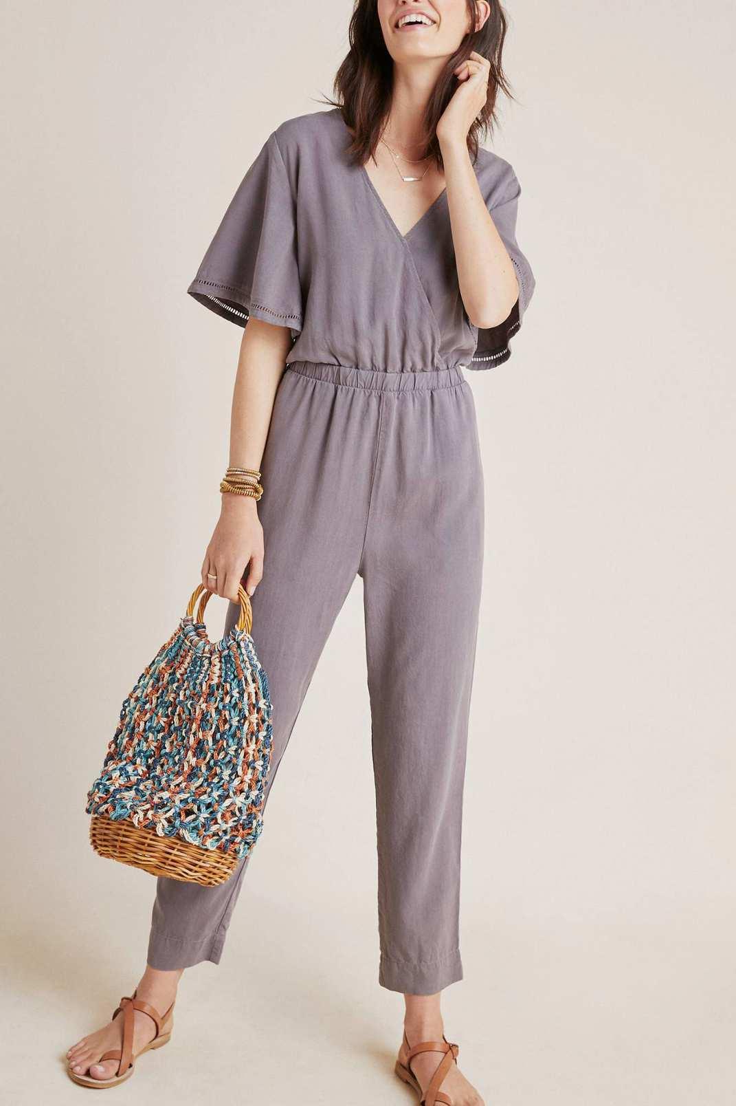 Anthropologie Cloth & Stone Gulpiyuri Jumpsuit