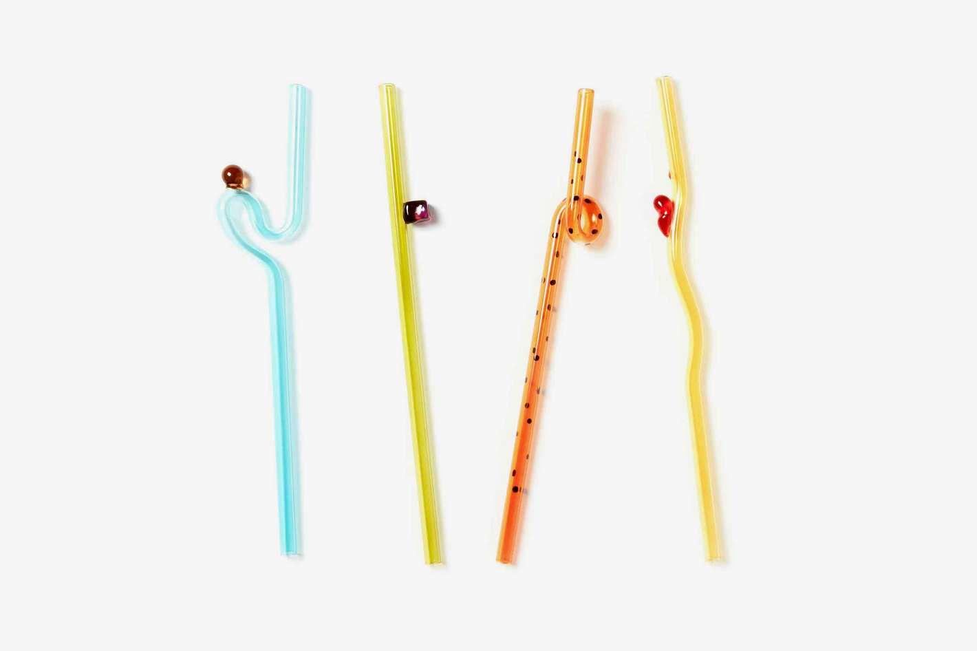 Bellyflop Glass Straw Set