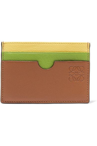 Loewe Color-Block Textured-Leather Cardholder