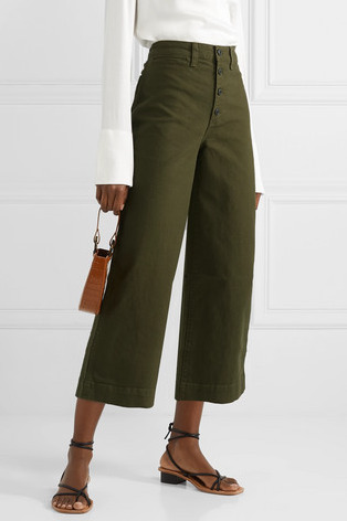 Madewell Emmett Stretch-Cotton Canvas Wide-Leg Pants