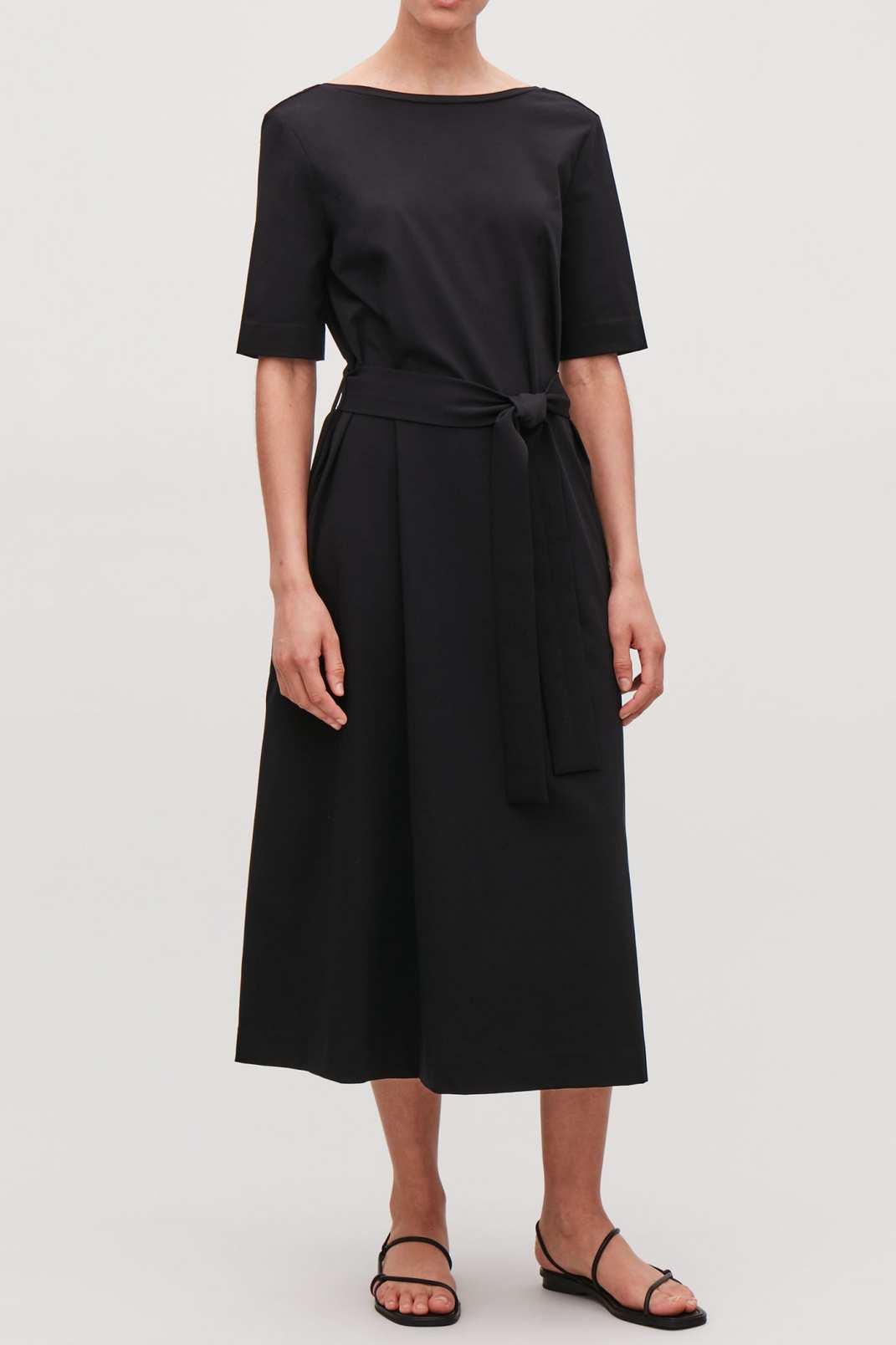 Cos Long A-Line Jersey Dress