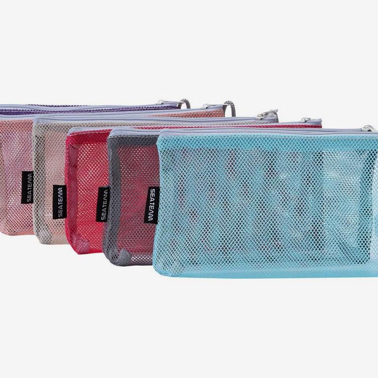 Sea Team Portable Travel Toiletry Pouch Nylon Mesh