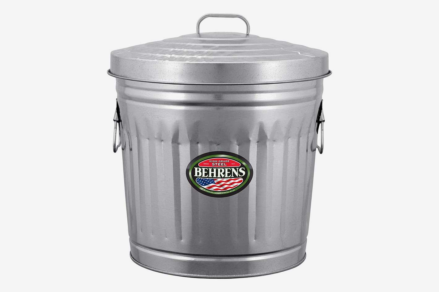 Behrens Galvanized Steel Trash Can, 10-Gallon