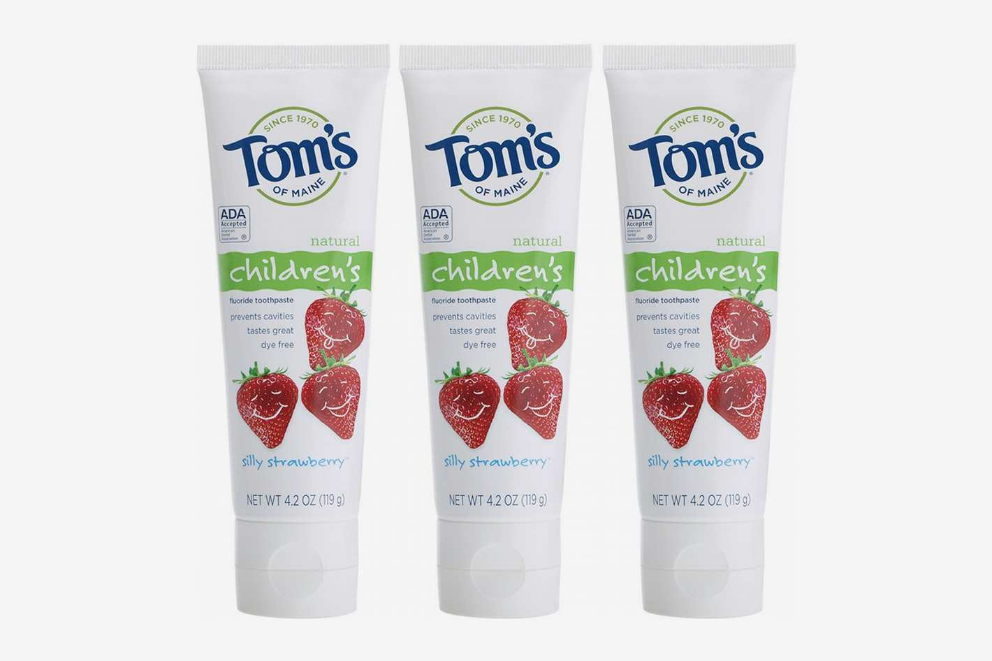Tom's of Maine Children's Toothpaste, Silly Strawberry (Pack of 3)