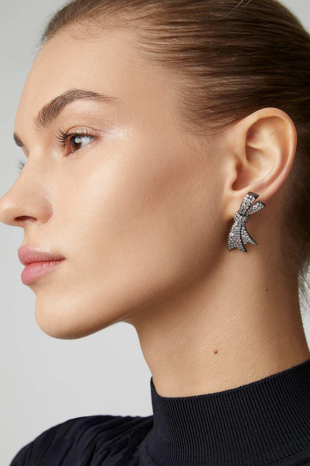 Fallon Crystal-Embellished Bow Earrings