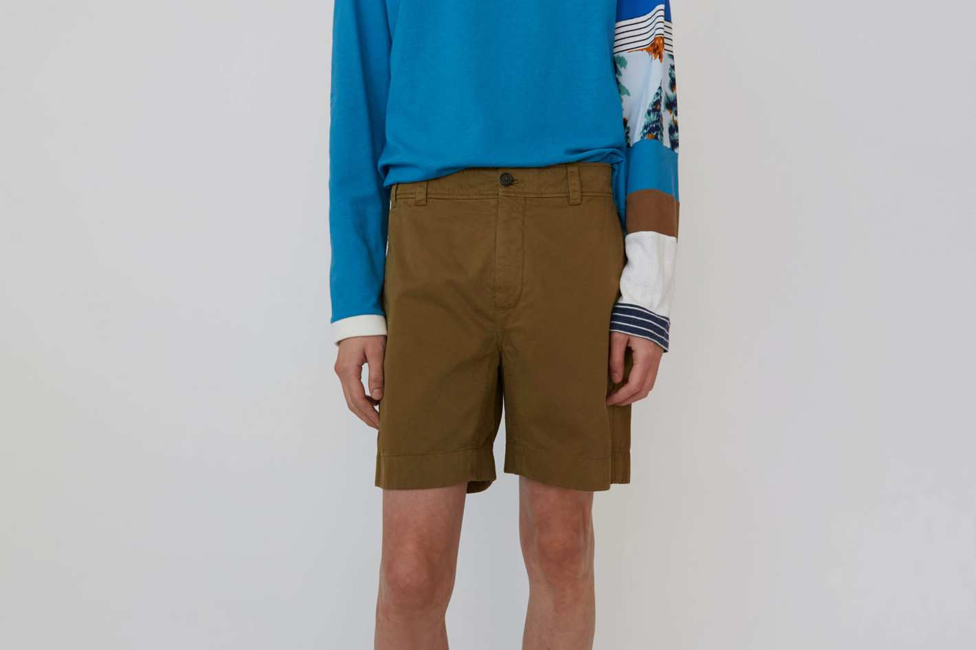 Acne Studios Cotton Shorts Olive Green
