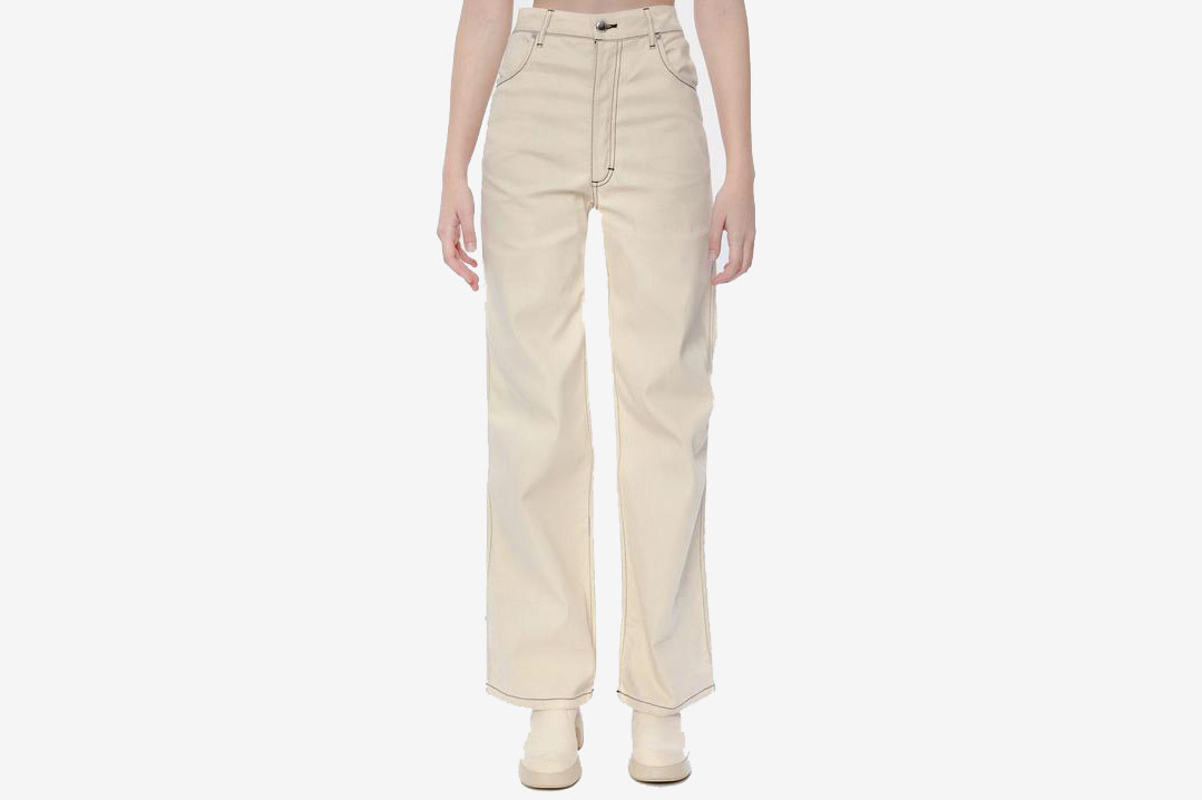 Eckhaus Latta Wide Leg Jean Natural