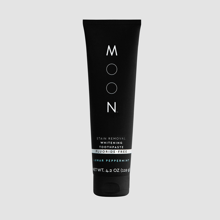 Moon Stain Removal Whitening Toothpaste Fluoride Free Lunar Peppermint Flavor