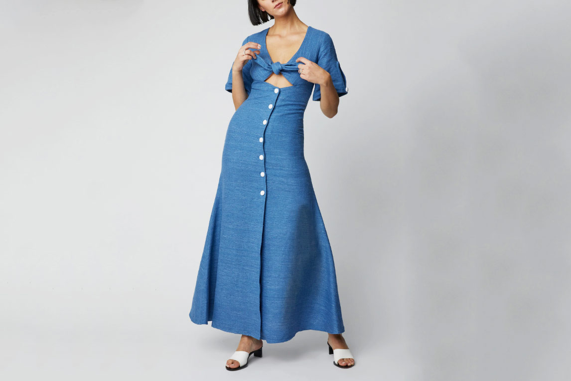Alexis Jameela Linen Maxi Dress