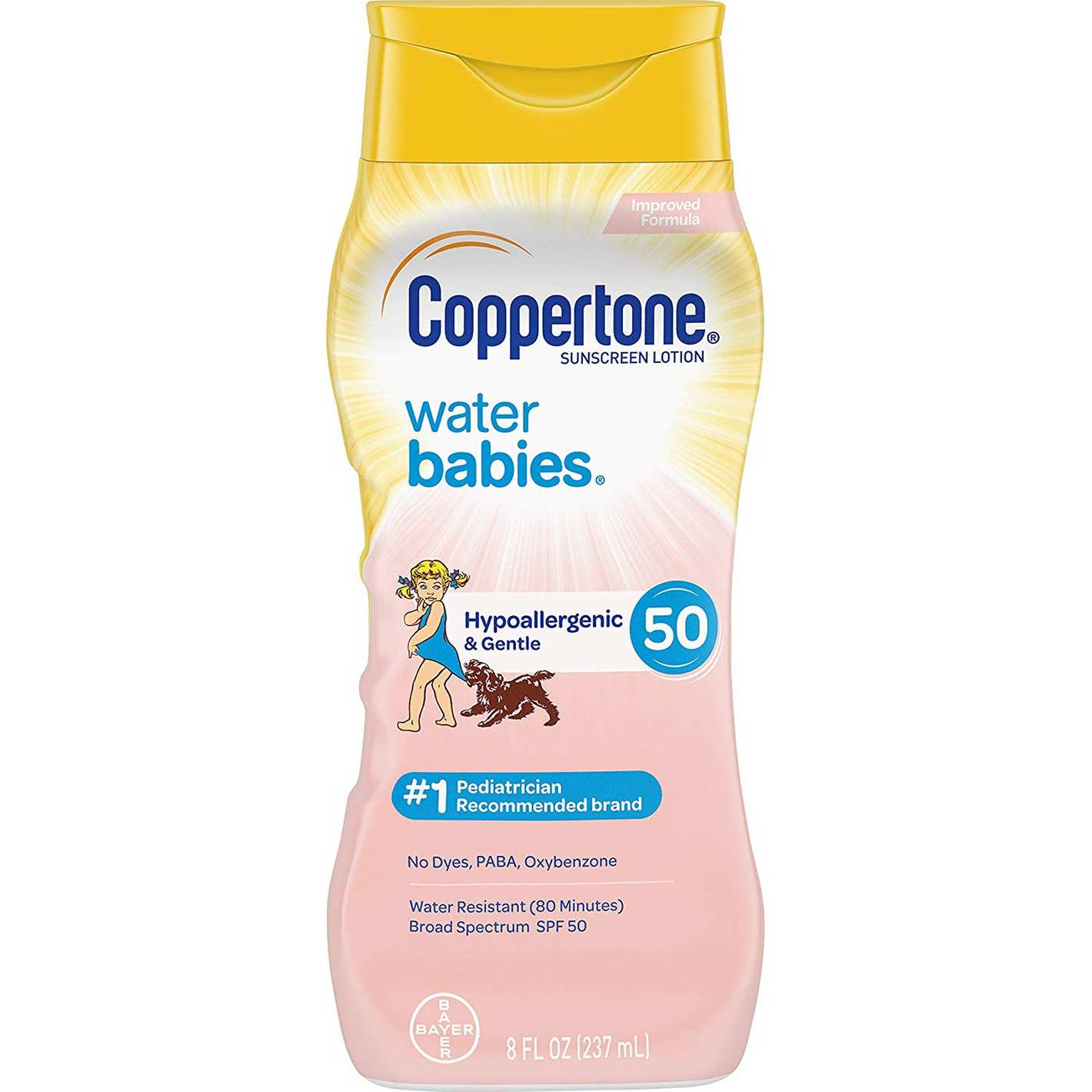 Coppertone WaterBabies Sunscreen Lotion Broad Spectrum SPF 50