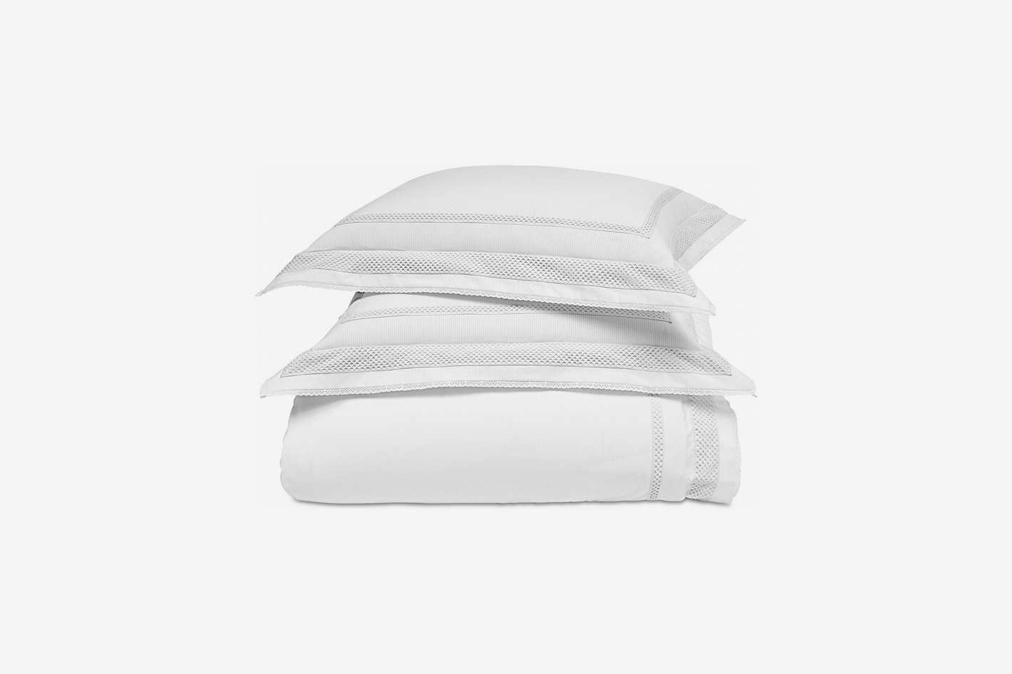 Martha Stewart Collection Signature Lattice Cotton 200-Thread Count 3-Pc. Full/Queen Duvet Set