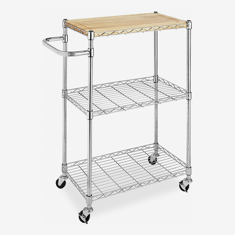 Whitmor Supreme Microwave Cart with Locking Wheels