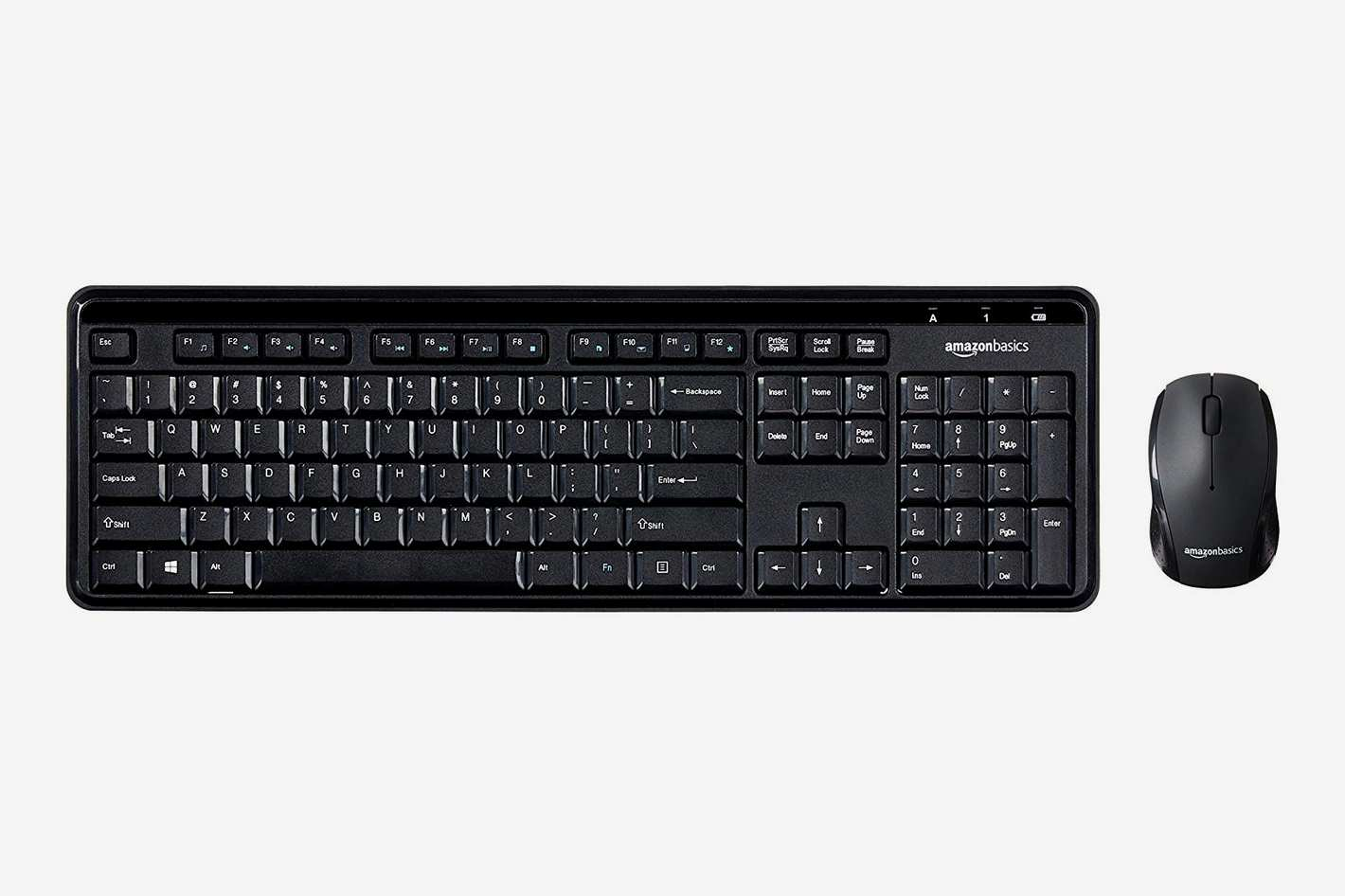 AmazonBasics Wireless Computer Keyboard and Mouse Combo - Quiet and Compact
