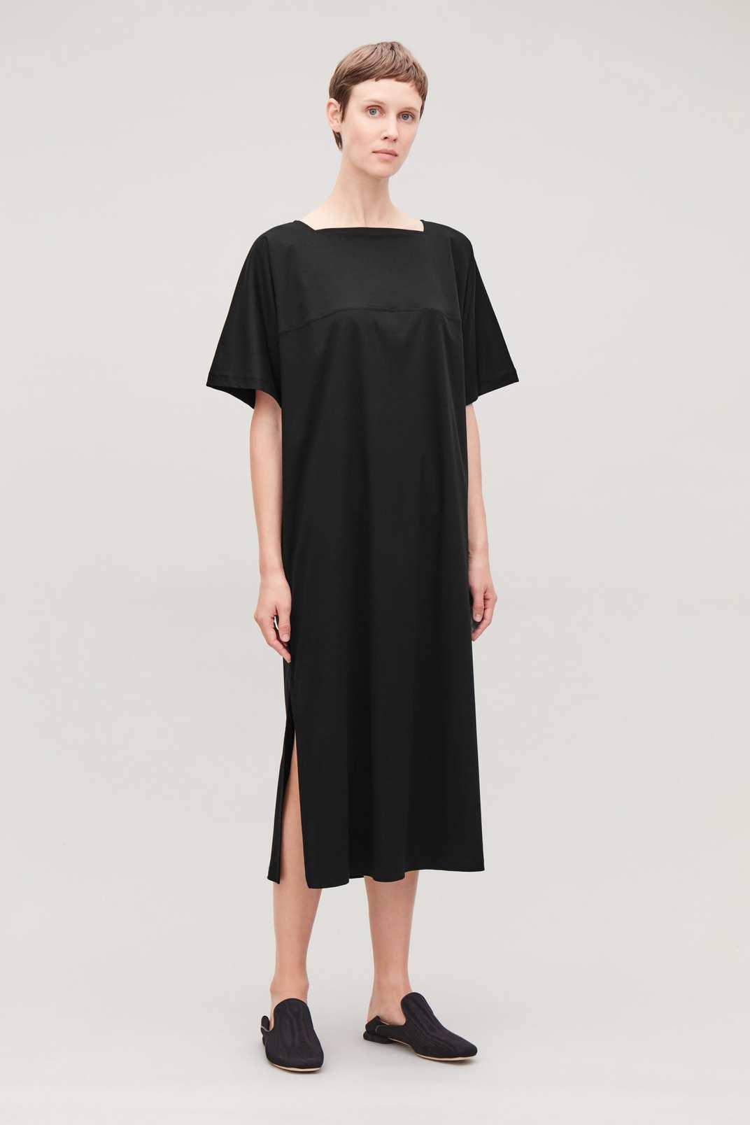 Cos Side-Split Jersey Apron Dress