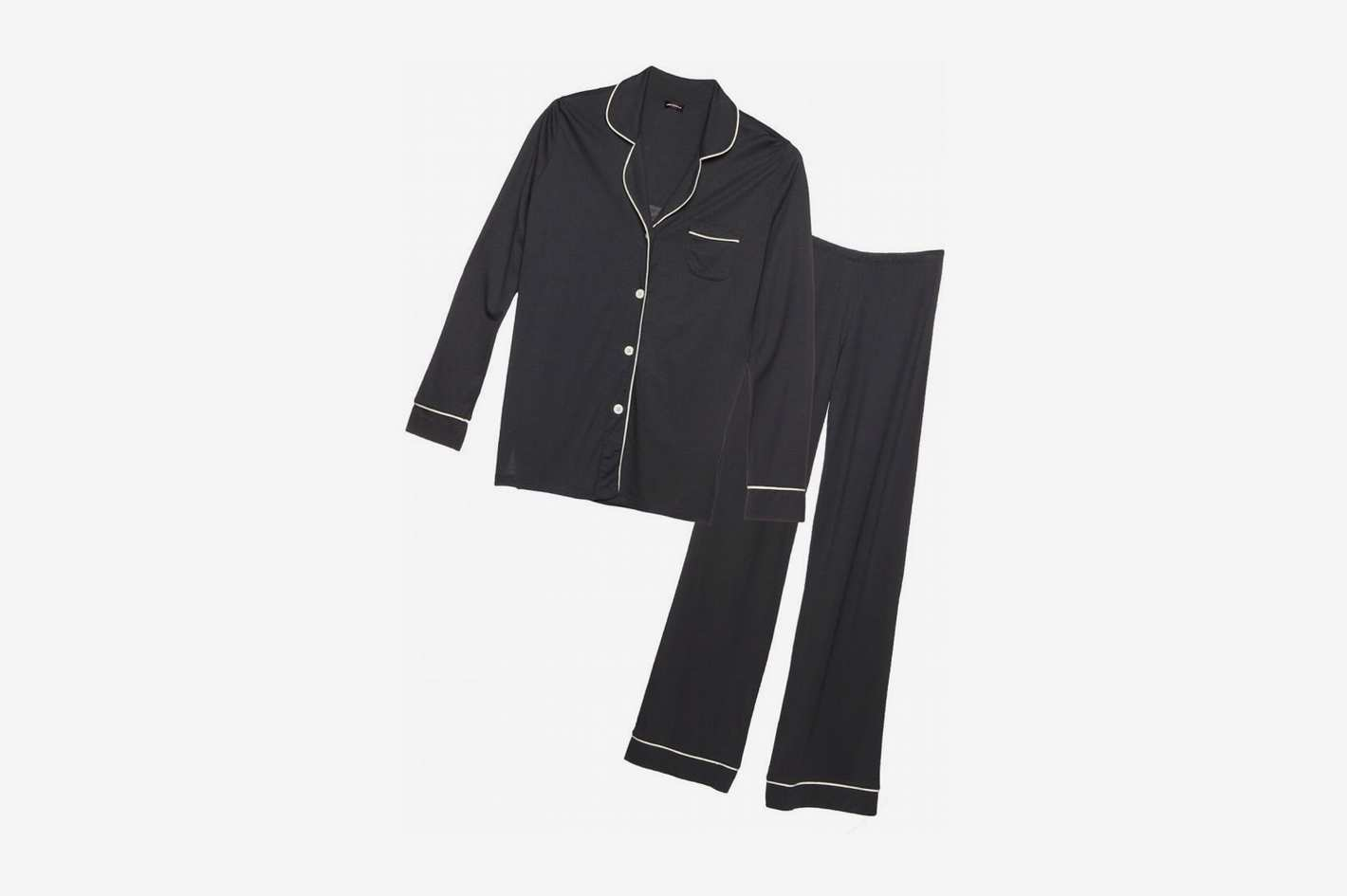 Cosabella Bella Satin-Trim Long-Sleeve Pajama Set