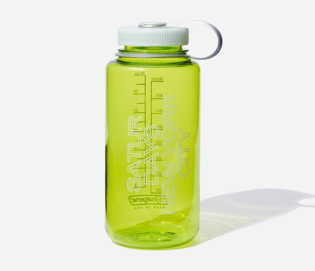 Nalgene Wide Mouth Mars Outline Bottle Chartreuse