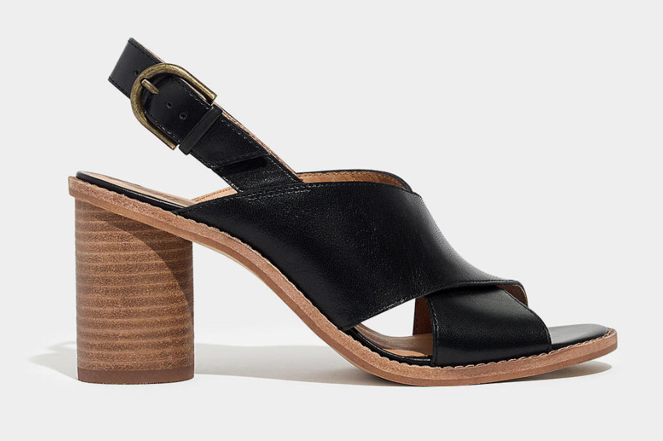 Madewell The Ruthie Crisscross Sandal in Leather