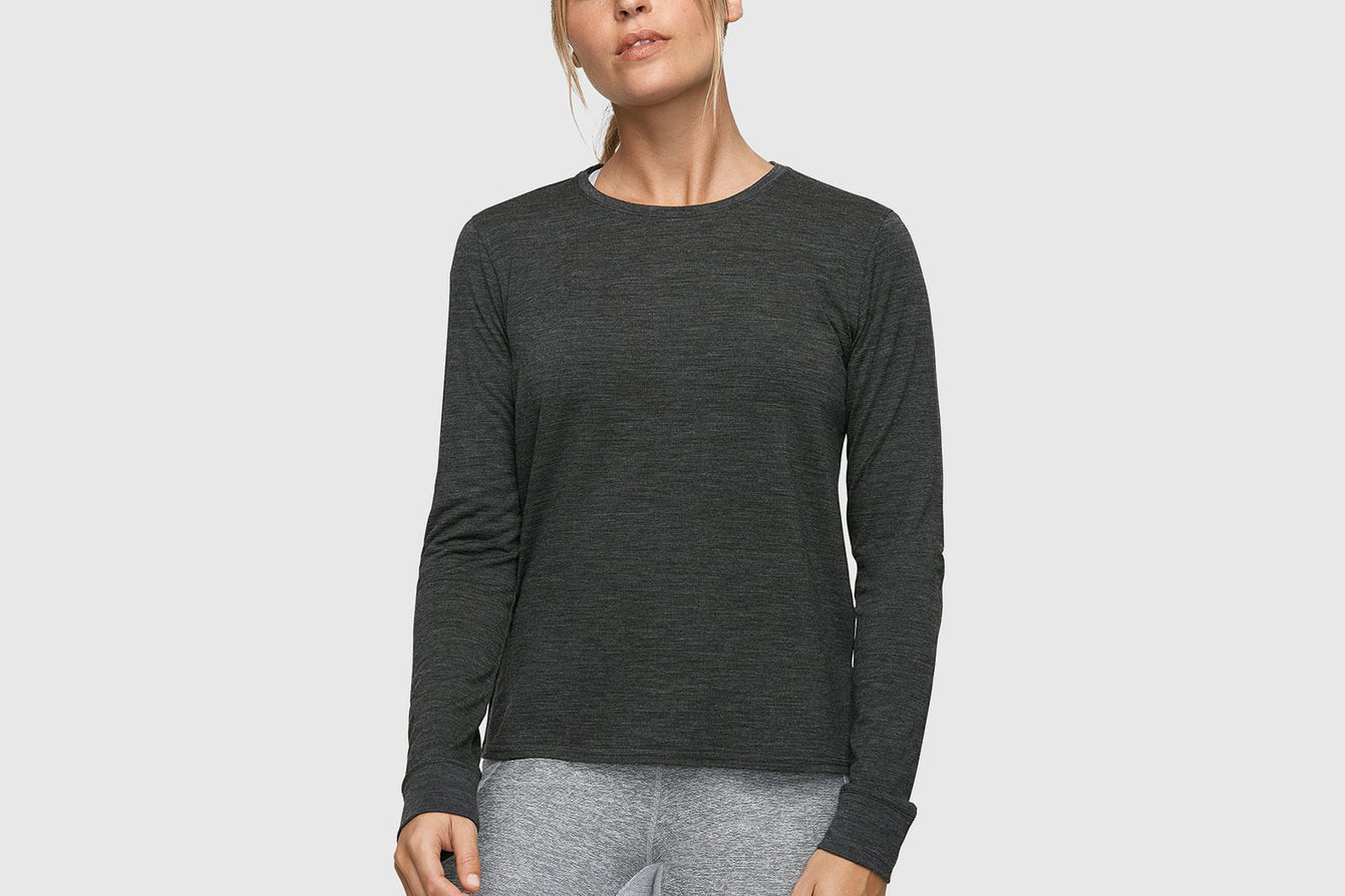 Outdoor Voices Merino Longsleeve T-Shirt (Charcoal)