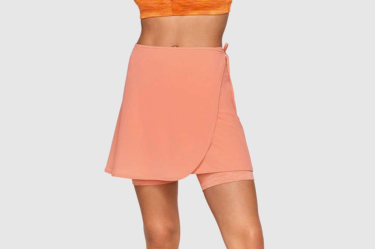 Outdoor Voices TissueWeave Wrap Skirt (Terracotta)