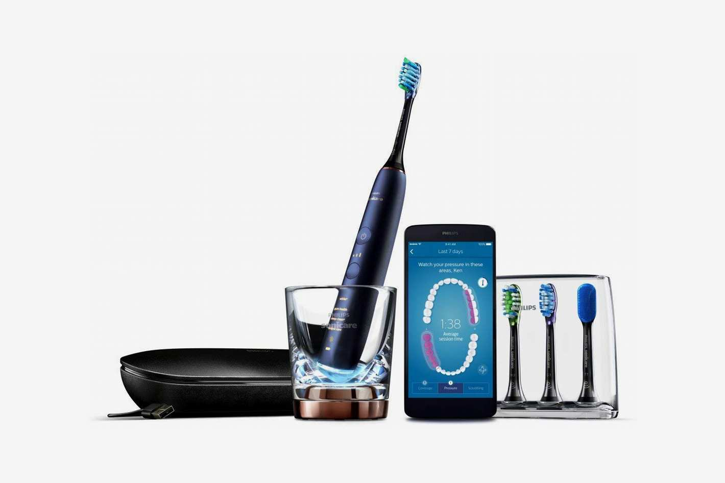 Philips Sonicare DiamondClean Smart Electric, Rechargable Toothbrush