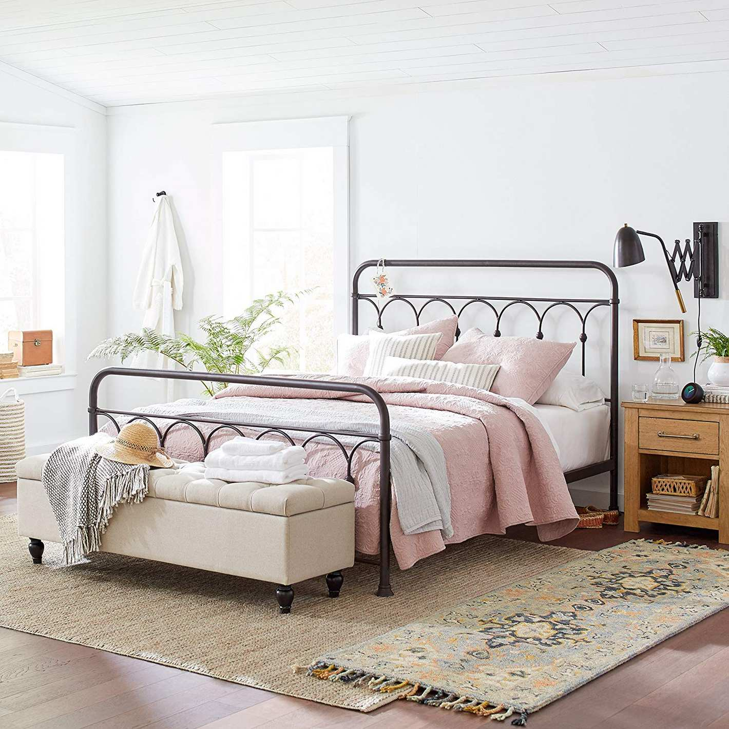 Stone & Beam Vintage Ari Arced Steel Queen Bed Frame