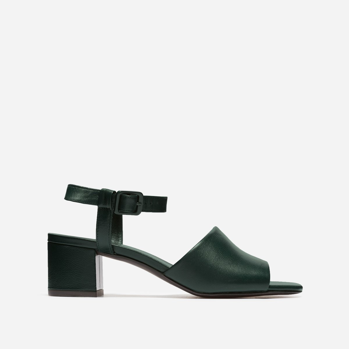 Everlane The Block Heel Sandal in Dark Green