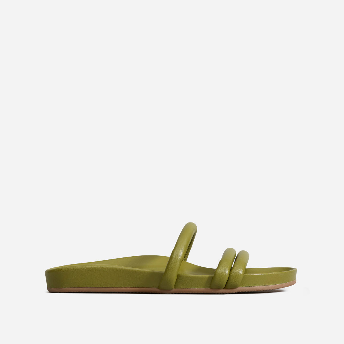 Everlane The Form Three-Strap Sandal in Aloe