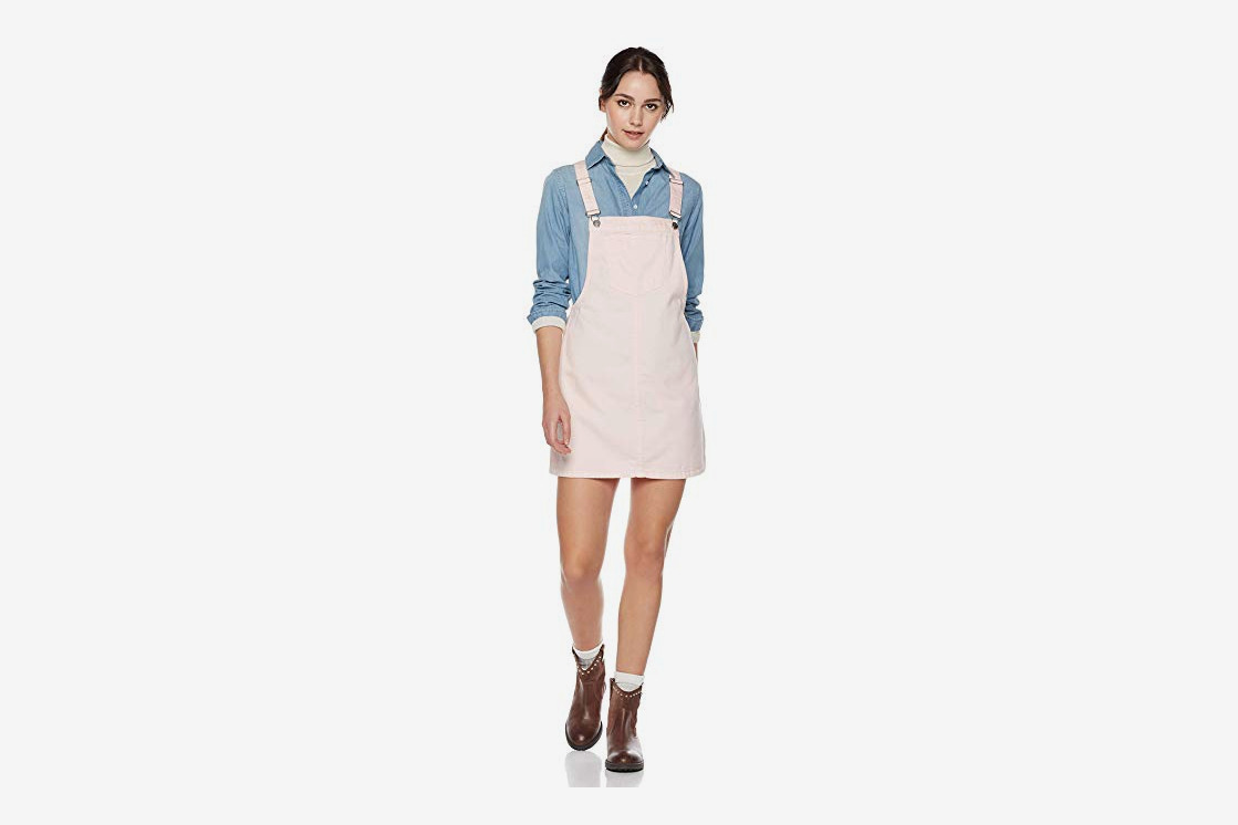 Lily Parker Women's Classic Adjustable Strap Denim Overall Dres
